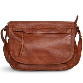 Pia Ries - Washed Crossover med stor klap style 056 - Cognac