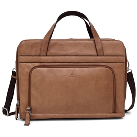 Adax - Napoli River Working Bag 15,6' - Cognac