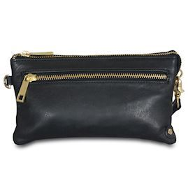 Depeche Golden Deluxe Clutch 11998 Black