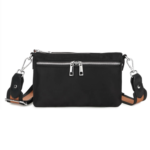 Adax - Novara Ebony Large Combi clutch 134112 - Black