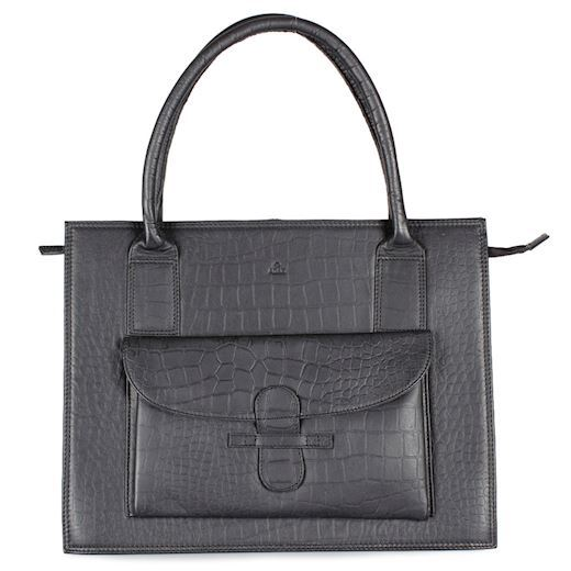 Adax - Ragusa Valentina Shopper 157645 - Black Croco