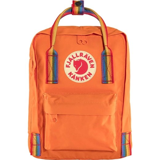 Fjällräven - Kånken Rainbow Mini - Burnt Orange & Rainbow