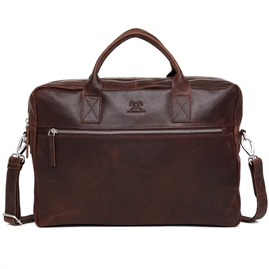 "Adax - Catania Axel 15,6"" Briefcase 277646 - Dark Brown"