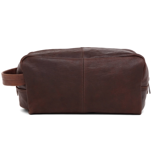 Adax - Catania Brian Wash Bag - Dark Brown