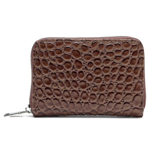 Unlimit - Holly Wallet  469496 - Dark Brown Kroko