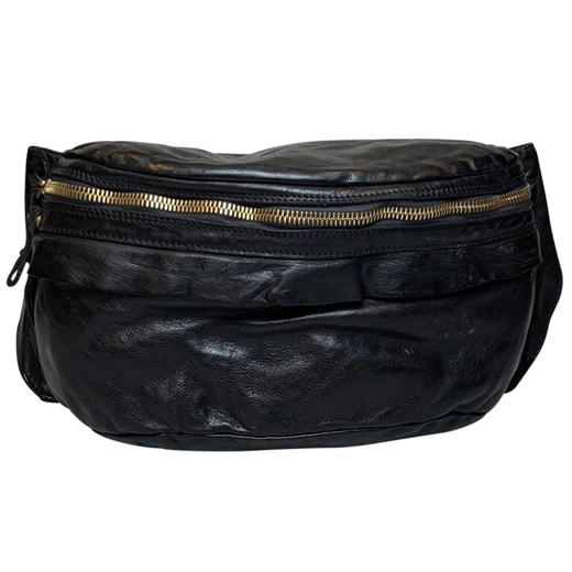 Campomaggi - Bum Bag Large 0890 - Black & Gold