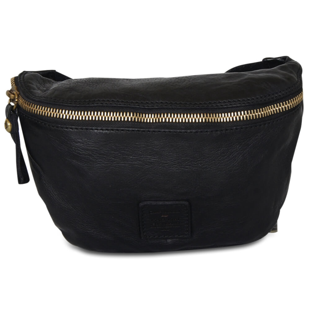 Campomaggi - Bum Bag Small - Black & Gold