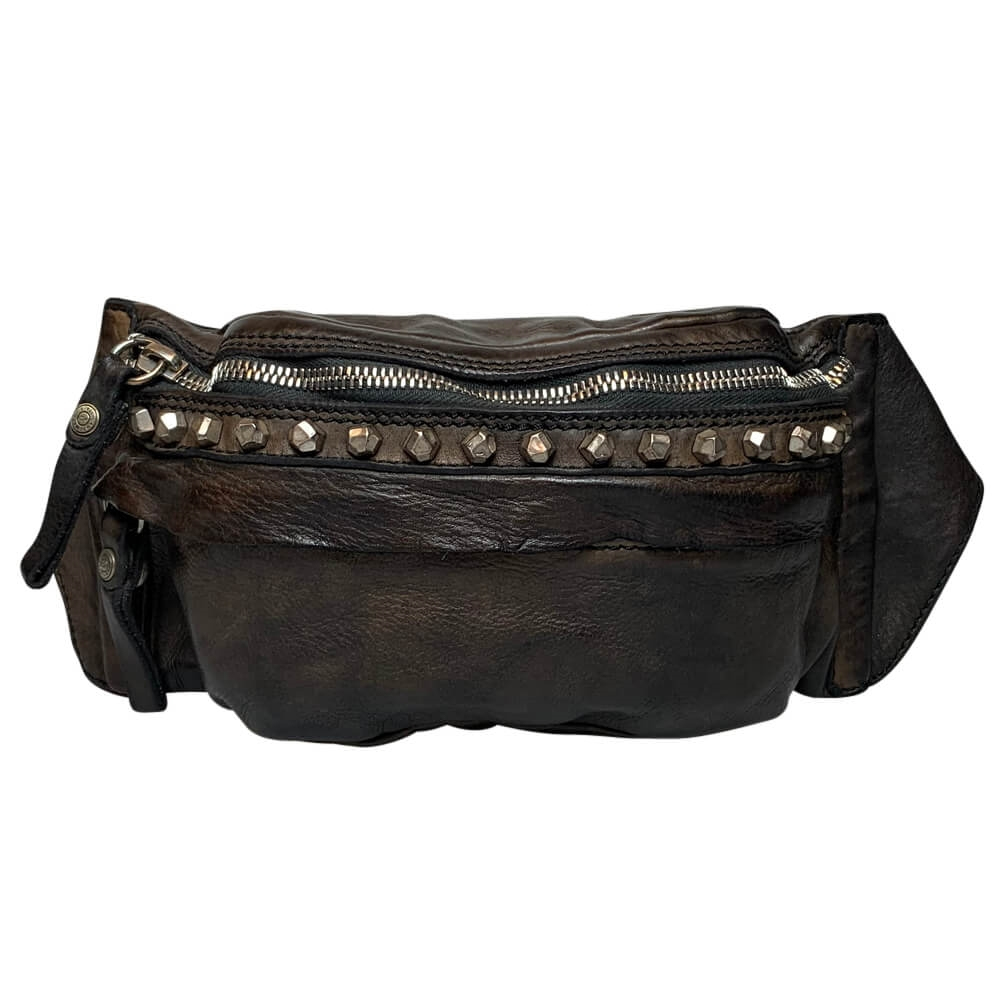 Campomaggi - Bumbag with studs 1332 - Grey