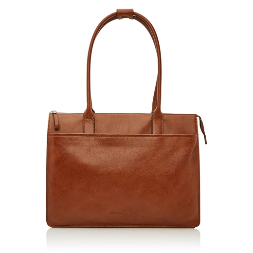 "Castelijn & Beerens - Nova Ladies Laptop Bag 15,6"" - Light Brown"