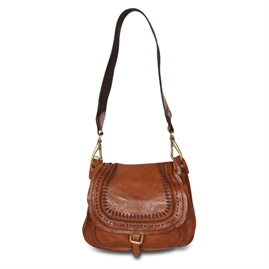 Campomaggi - Saddle Bag Small with lasercut - Cognac