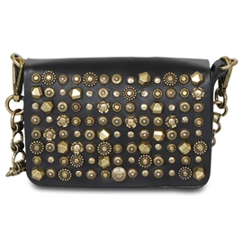 Campomaggi - Small Evening Bag with Studs - Black