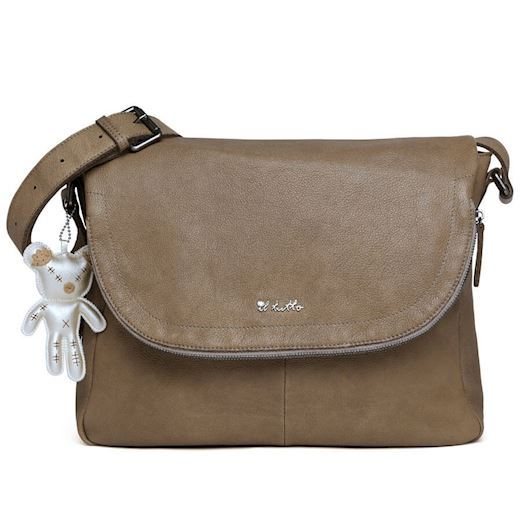 Il Tutto - Ryder Leather Baby Satchel Bag - Ochre